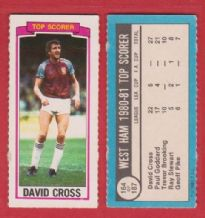 West Ham United David Cross 164 (TS)